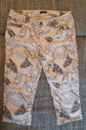 Pantalone Capri nero-beige chiaro