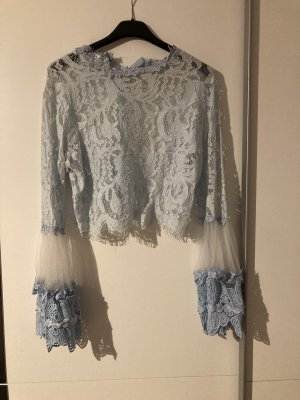 Flamant Rose Collection Lace Blouse baby blue