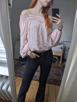 Schöne off-shoulder Bluse rosé