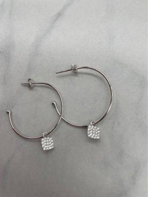 925er Silber Boucles d'oreilles en argent argenté