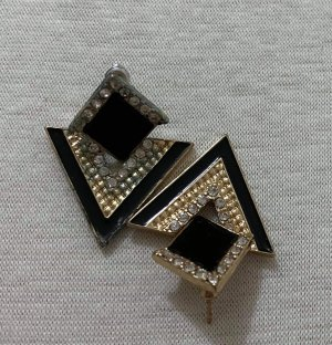Ear stud gold-colored-black
