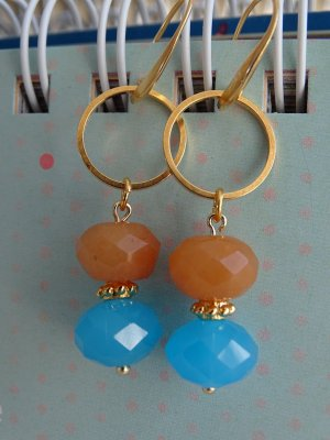 Bungeloorbellen oranje-neon blauw