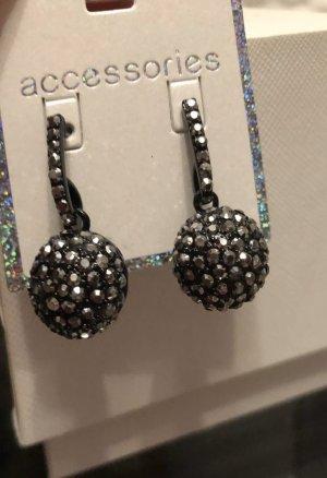 1.2.3 Paris Pareloorbellen zilver-zwart