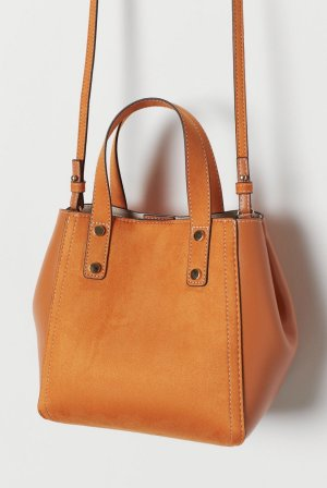 Schöne orangefarbene Handtasche, nur 1x getragen