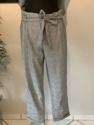Zara Pantalon taille haute noir-blanc