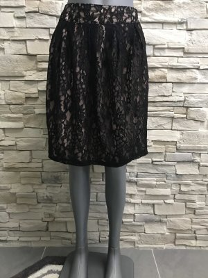 Apart Lace Skirt black-pink