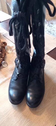Pesaro Bottes à lacets noir