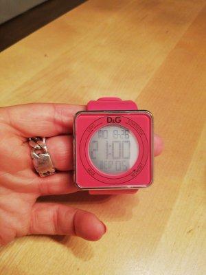 Schöne pinke Uhr von Dolce & Gabbana