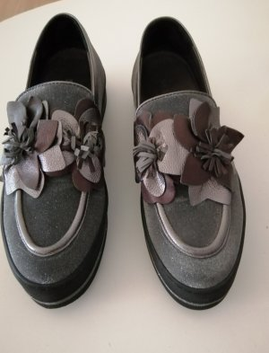 Maripé Slippers black-silver-colored