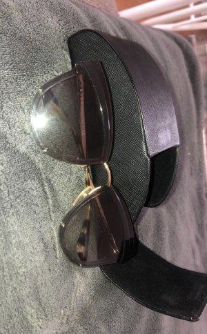 Prada Gafas Retro gris-negro tejido mezclado