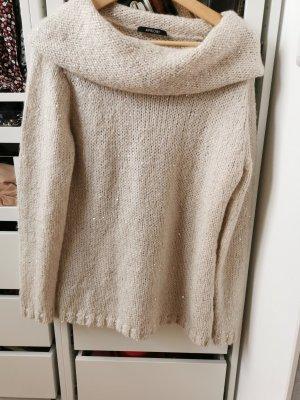 Apriori Sweter z okrągłym dekoltem kremowy