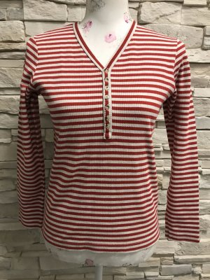 3 Suisses Knitted Sweater white-red
