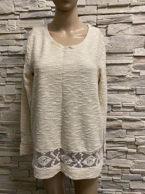 Laura Kent Maglione lavorato a maglia crema