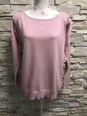 Anna Wenz Pull tricoté vieux rose-rosé