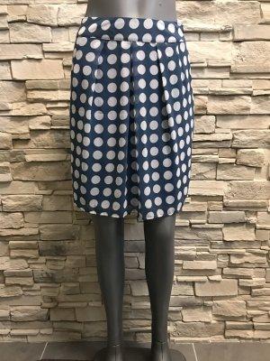 More & More Spódnica midi biały-stalowy niebieski