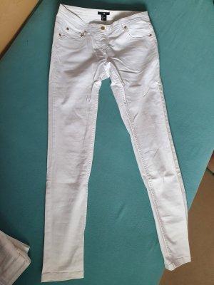 H&M Jeansy rurki biały Bawełna