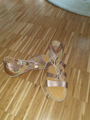 Sandalo romano color oro rosa