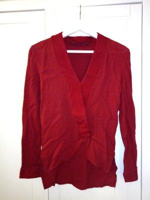 Schöne rote Bluse von Zara in Größe XS