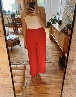 Vero Moda Pleated Trousers red-brick red