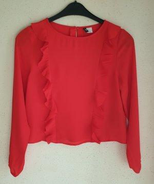 Schöne rote H&M Bluse /Kurzbluse Gr. S