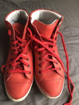 Schöne rote Hohe Schnürschuhe Gr.41
