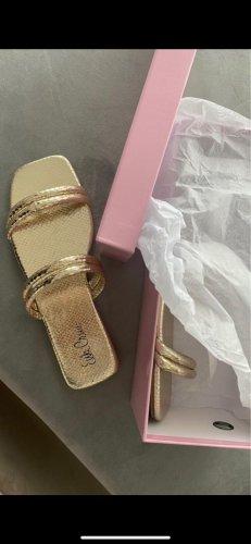 Schöne Sandalen Gold Gr. 39