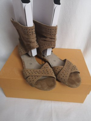 MARC Shoes Roman Sandals grey brown-camel