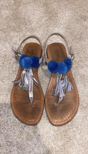 Tamaris Flip-Flop Sandals silver-colored-blue
