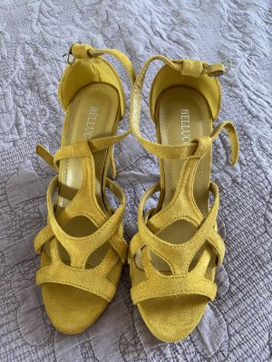 Bellucci Plateauzool Sandalen met Hoge Hakken goud Oranje