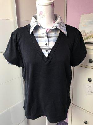 C&A Batik Shirt white-dark blue