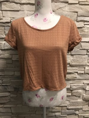 H&M Batik Shirt cognac-coloured