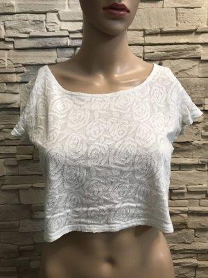 H&M Boatneck Shirt white