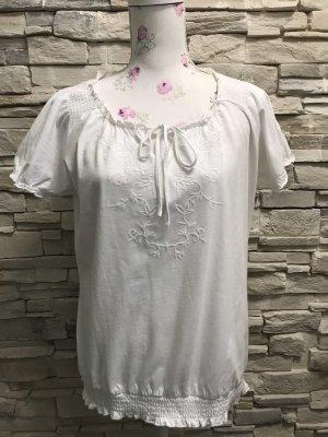 Tchibo / TCM Batik Shirt white