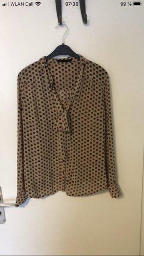Set Blusa con lazo marrón claro-negro