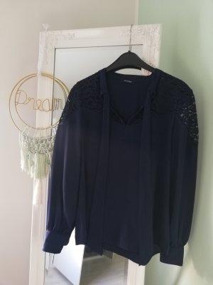 Orsay Blouse avec noeuds bleu-bleu foncé
