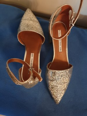 & other stories Strapped High-Heeled Sandals silver-colored