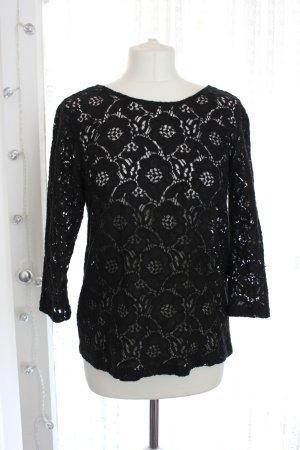 H&M Top en maille crochet noir