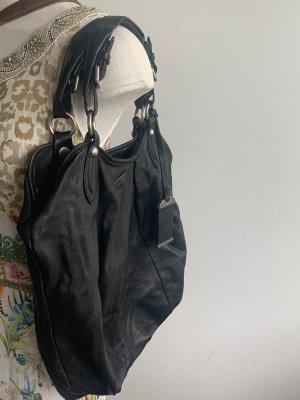 Schöne schwarze Ledertasche von abro
