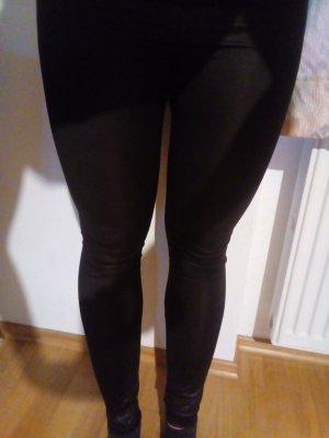 schöne, schwarze Legging in Lederoptik
