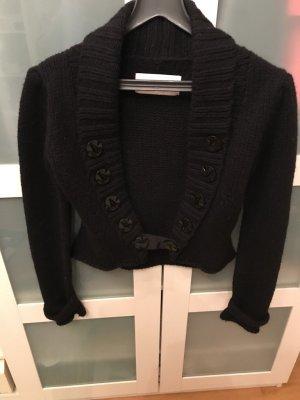 Marlene Birger Coarse Knitted Jacket black wool