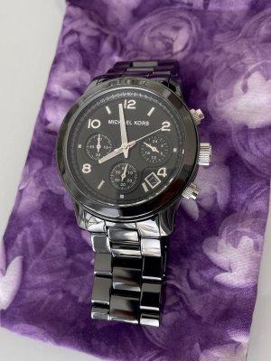 Schöne schwarze Uhr Michael Kors