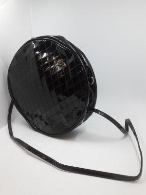 Schöne schwarze Vintage Lack Tasche