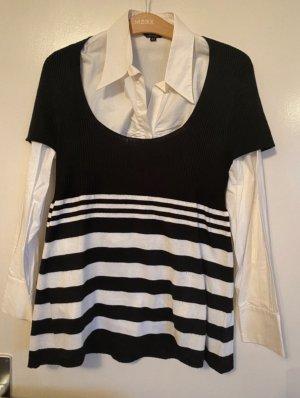 Miss H. Cols de blouses noir-blanc