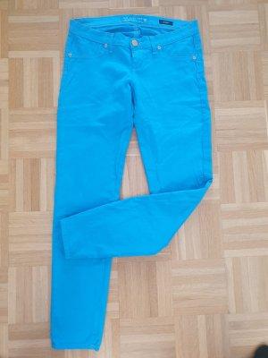 Take Two Pantalon cigarette bleu fluo