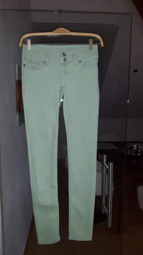 Schöne Skinny Jeans in Pastellgrün von Edc in Größe 25