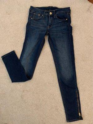 Schöne Skinny Jeanshose ankle  mit Reißverschluss am Knöchel :)