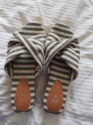 H&M Platform Sandals cream-slate-gray