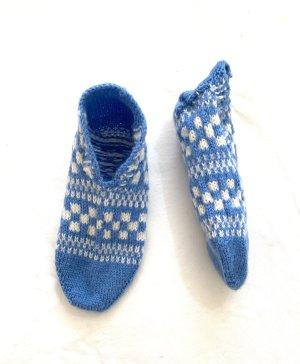 Handmade Bril wit-neon blauw