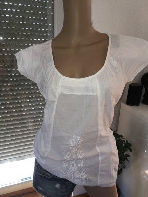 Mymo Bluzka z krótkim rękawem biały-w kolorze białej wełny