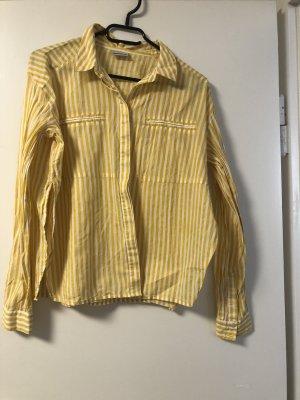 Noisy May Camicetta a maniche lunghe giallo-bianco